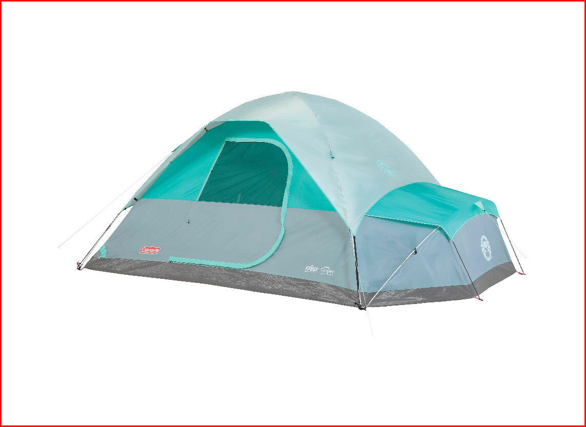 Coleman NAMAKAN Fast-Pitch Dome Tent + Vented ANNEX - 7 Person  6 Min Setup blueE
