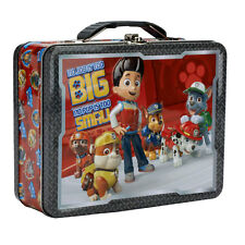 "Paw Patrol ""No Job is Too Big"" TIN School Lunch Box Case Carry-All TOTE NEW"