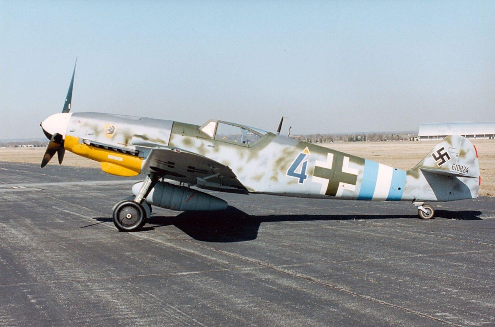 Escala 1 5 BF-109 G-10 K4 Kit de corto de corte láser con planes Impreso, 78.5  ala palmo