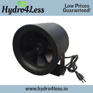 "10/"" ProFlo 1019 CFM Inline Fan Hydroponics Exhaust Fan Duct Cooling Best Strong"