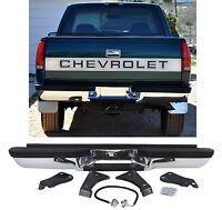 Rear Chrome Step Bumper For 1988-1998 Chevrolet/gmc Trucks Free Shipping