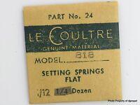 Jaeger Lecoultre Setting Springs Flat Cal.818 Part 440 24