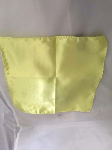 """Jaune citron polyester homme cravate /& mouchoir set /> skinny 2.5/"""" = 6cm /> p/&p 2UK /> 1st classe"""