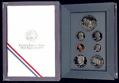 1991 US Mint Mt Rushmore Prestige Proof Coin Set