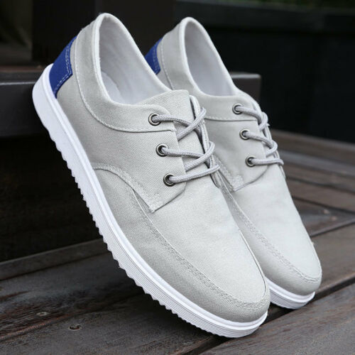 NEW Men/'s Casual Canvas Shoes Breathable Sneakers sports Flat Lace up walking