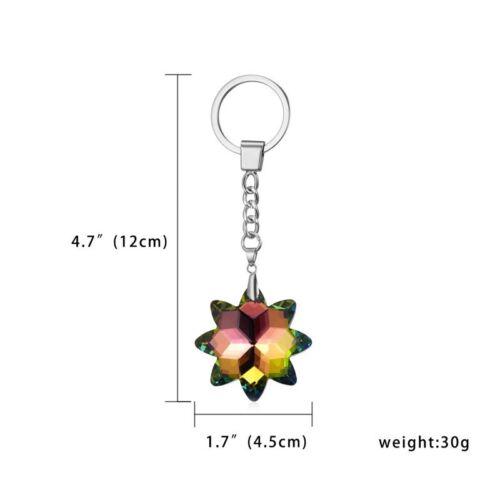 Heart Crystal Rhinestone Keychain Handbag Charm Pendant Bag Keyring Key Chain