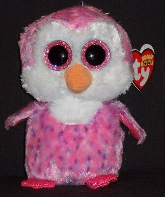 """EUROPEAN EXCLUSIVE MINT with MINT TAG GLIDER the 6/"""" PENGUIN TY BEANIE BOOS"""