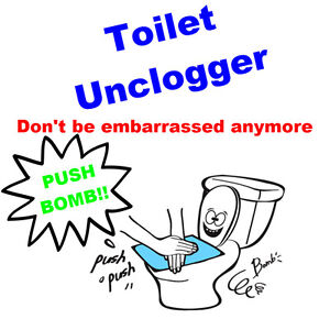 Push Bomb Toilet Bowl Unclogger Breaching Clogged Toilet