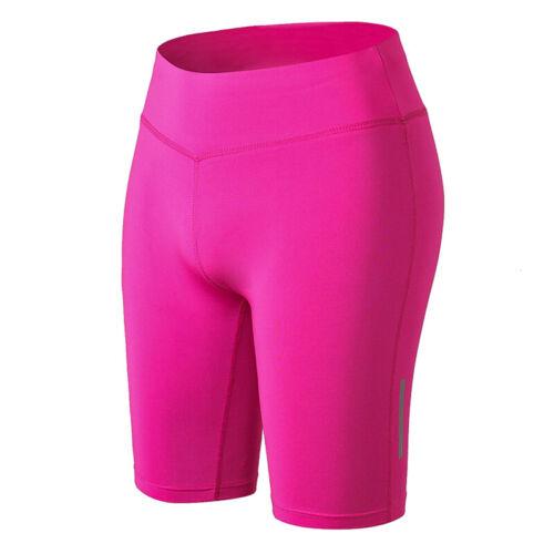 Damen High Waist Kurz Leggings Sport Shorts Gym Fitness Jogging Yogahose Leggins