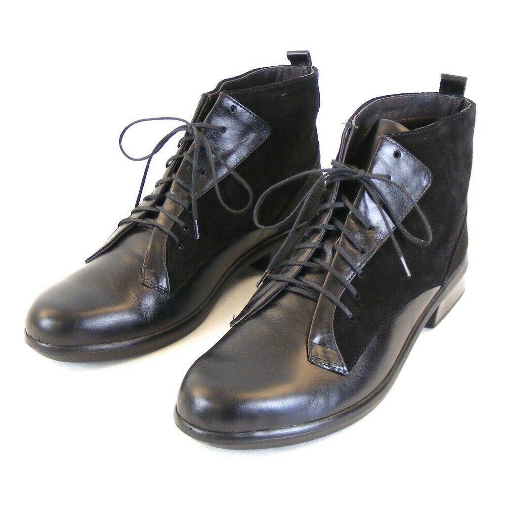 Naot Chaussures Femmes Cheville Chaussures MISTRAL Cuir Noir Combi 11095 Semelle intérieure amovible