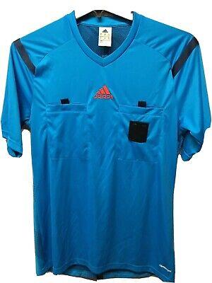 Adidas Mls Fifa Soccer Referee Jersey Blue Short Sleeve Size Men's Medium | eBay