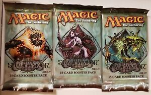 Magic The Gathering (MTG) Shadowmoor Sealed Booster Pack x3