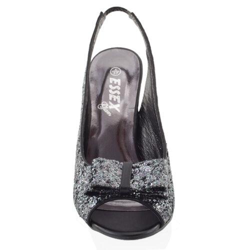 DAMEN STILETTO HIGH HEEL funkelnd Damen Riemen Braut Ball Sandalen Schuhe