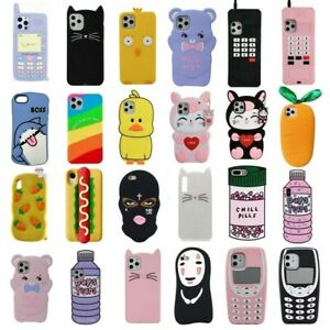 3D Cartoon Soft Silicone Phone Case Cover For iPhone 12 11 Pro Max ...