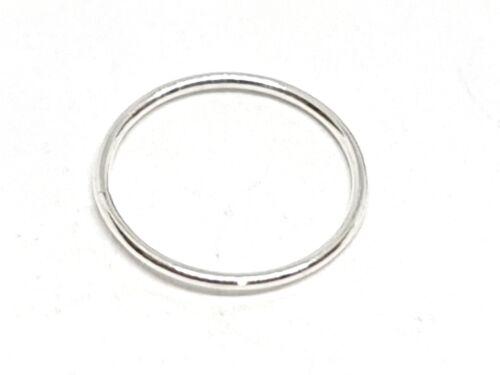 Hoop Very Fine Silver Septum Helix 8mm 0.6mm Nose Ring Silver Septum Split 22g