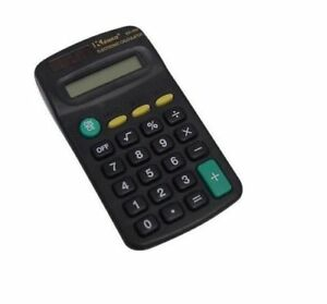 Stationary-Small-Pocket-Calculator-Black-8-Digit-Primary-School-Shopping-Office