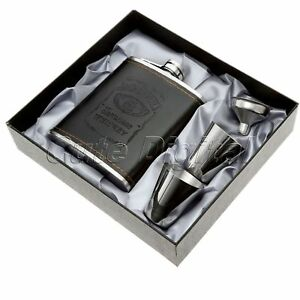 7oz-Pocket-Stainless-Steel-Leather-Wrapped-Liquor-Hip-Flask-Funnel-Cup-Set-Boxed