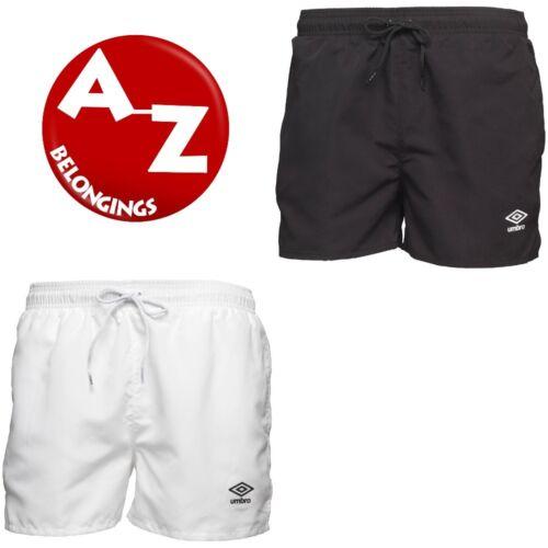 Umbro Mens Essential Swim Beach Shorts Black /& White S M L BNWT Free Delivery