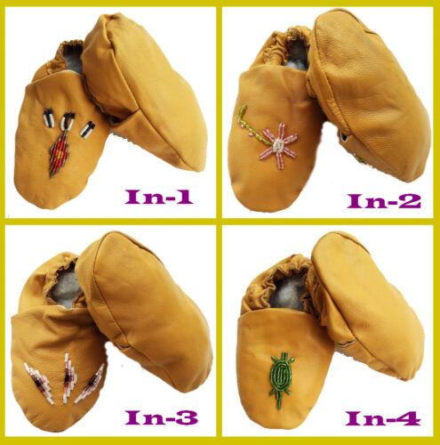 Baby Indianer-Schuhe Indianer-Mokassins Lederschuhe Krabbelnschuhe Lederpuschen
