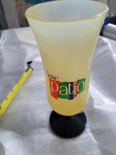 VINTAGE HESS/'S DEPT STORE PATIO RESTAURANT PARFAIT DAIQUIRI DRINK PLASTIC GLASSE