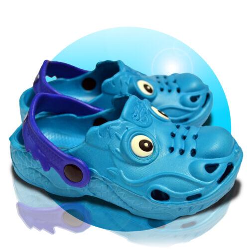 Drago Bambini Clogs Pantofole Scarpe Bagno Scarpe Sandali Taglia 24-30