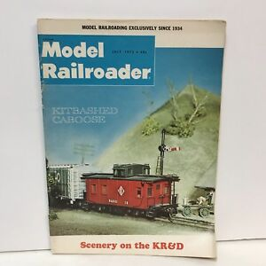 Model-Railroader-Magazine-Back-Issue-July-1972-Mann-039-s-Creek-Layout-Milwaukee-Rd