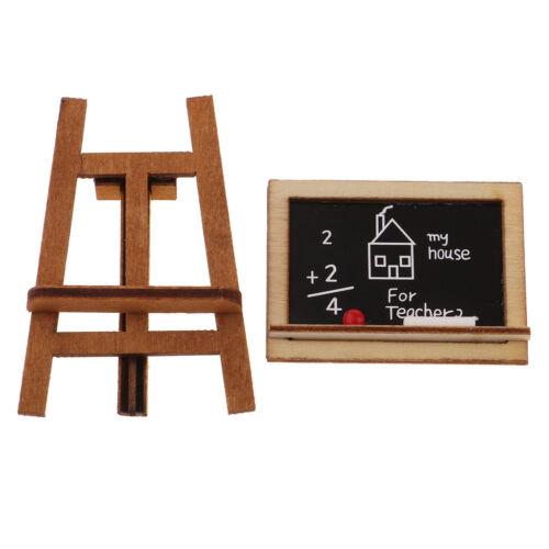 Miniatur Tafel Staffelei Mit Stand für 1:12 Puppenhaus Klassenzimmer Dekor