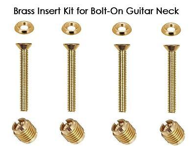 USA MADE GeetarGizmos BLACK STEEL SCREWS Guitar Neck Repair Insert Kit