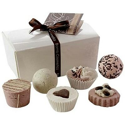 Bath Bomb Gift Set For Her Womens  Beauty Hamper Pamper Pack Chocolate
