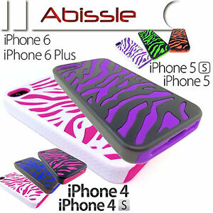 Heavy-Duty-2-Pce-Durable-Zebra-Case-Cover-for-Apple-iPhone-4-4S-5C-5-5S