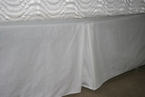 """200 Thread Count Poly Cotton Percale Dorm XL Twin Dust Ruffle 14/"""" drop"""