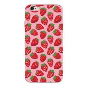iphone 5 5s se handyh lle handy h lle schutz case cover silikon erdbeeren neu ebay. Black Bedroom Furniture Sets. Home Design Ideas
