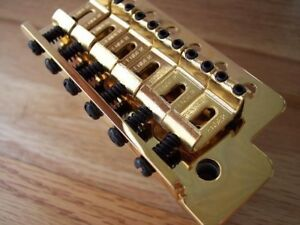 Details about GENUINE FENDER GOLD STRATOCASTER Mexican TREMOLO BRIDGE Great  For Standard Strat