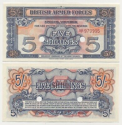 GREAT BRITAIN 5 SHILLINGS nd 1948 BRITISH ARMED FORCES UNC M20a com