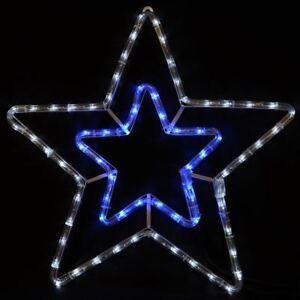 STAR-Blue-amp-White-LED-Luce-Corda-Natale-xmas-decorazione-Indoor-amp-Outdoor
