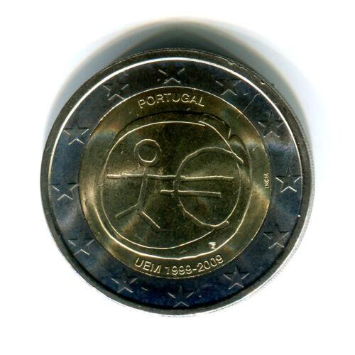 2 EURO coin 2009 10 Years EMU Birth of Euro UNC bimettalic 2 € PORTUGAL
