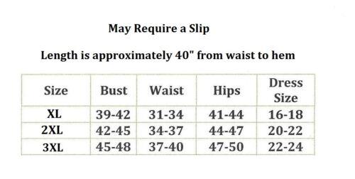 Plus Taille Banded Waist Long Forme Ajustée Jupe longue pleine longueur XL 2XL 3XL