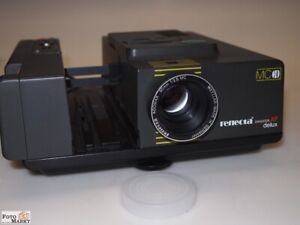 Reflecta-Diaprojektor-Diamator-AF-Deluxe-Multiprocessor-TMS-1004-Objektiv-2-8-90