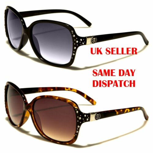 Kleo Butterfly Oval Designer Diamante Womens Sunglasses 100/%UV400 LH5287 BNWT