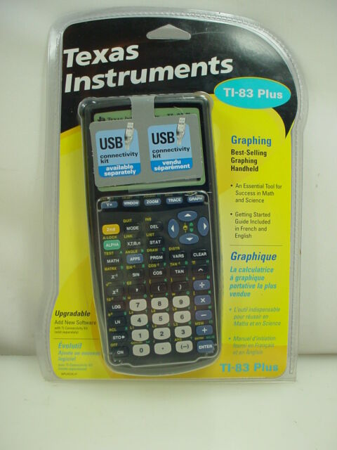 TEXAS INSTRUMENTS Ti83 PLUS GRAPHING CALCULATOR NEW IN PACKAGE