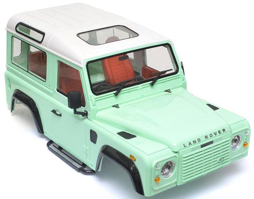 Rc 1/10 Land Rover Defender 90 W/Intérieur D90 Échelle Camion Camion Camion Dur Corps W / Tuba 9a7e8f