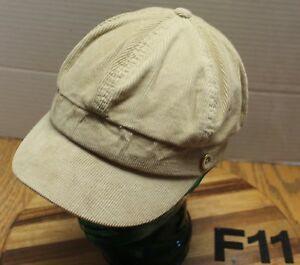 5c881947b Details about WOMENS OLD NAVY TAN CADET/MILITARY STYLE HAT CORDUROY SIZE  S/M VG CONDITION F11