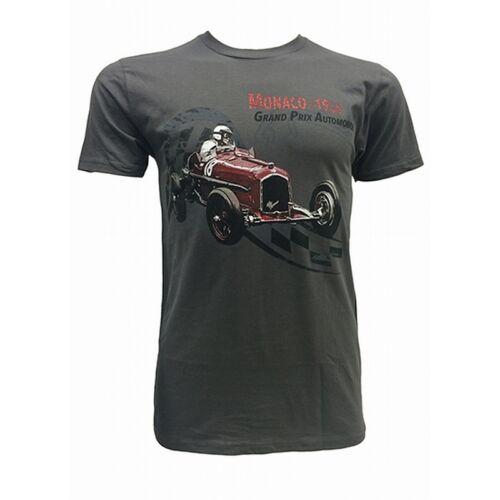 Men/'s Grey T-Shirt Alfa Romeo P3 Monaco Grand Prix 1934