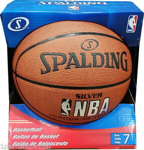 233ef97c48 Image is loading Spalding-NBA-SILVER-INDOOR-OUTDOOR-Basketball-Sports-Ball-