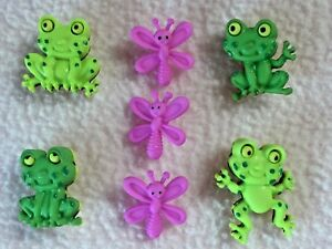 DRESS IT UP BUTTONS  HAPPY FROGS  4 FROGS  3 DRAGONFLIES  CRAFTSCARD MAKING - Sutton-on-Sea, United Kingdom - DRESS IT UP BUTTONS  HAPPY FROGS  4 FROGS  3 DRAGONFLIES  CRAFTSCARD MAKING - Sutton-on-Sea, United Kingdom