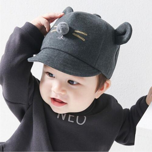 Kleinkind scherzt Baby-Mädchen-Jungen-Visier-Baseball-Katze kleine Ohrkappe
