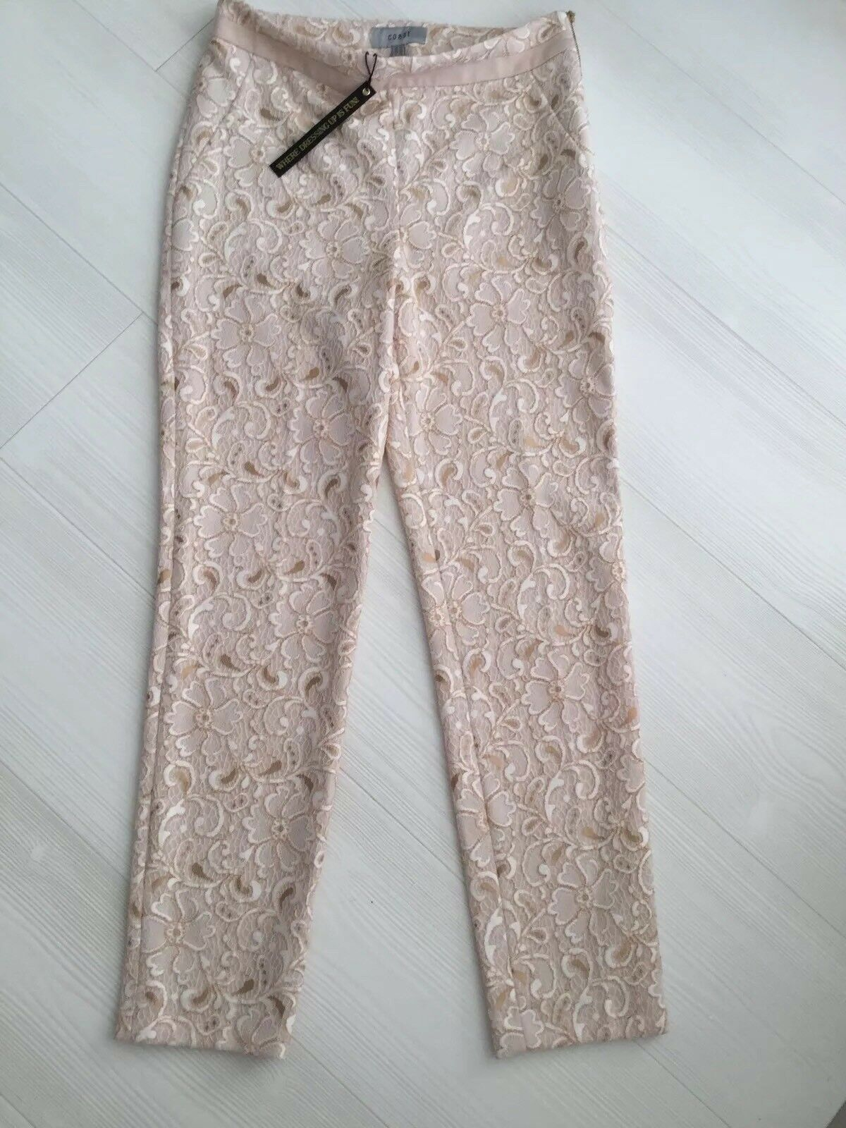 Coast Lace Pale Pink Cropped Cigar Shape Trousers