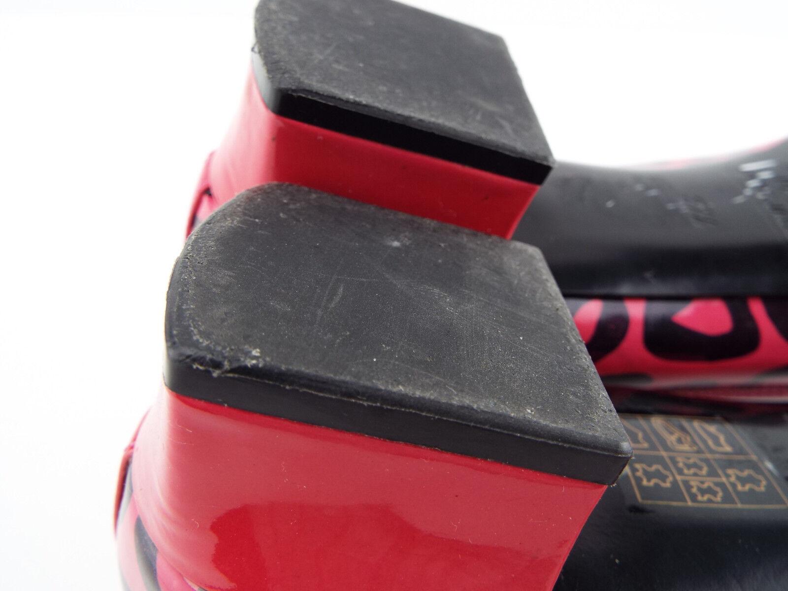 MARC JACOBS JACOBS JACOBS Größe 7.5 Rosa Patent Leather Heart Logo Block Heels Pumps schuhe 37.5 4ea895