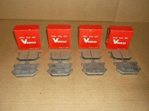 4 Sets of Brake Pads for Yamaha XS250 SR500 XS650 XS400 XS750 /& XS1100