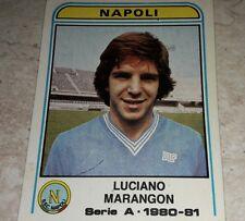 FIGURINA CALCIATORI PANINI 1980/81 NAPOLI MARANGON N° 216 ALBUM 1981